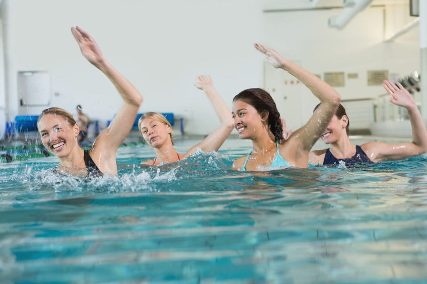 aqua aerobic je efektívne cvičenie vo vode na pohyb a chudnutie