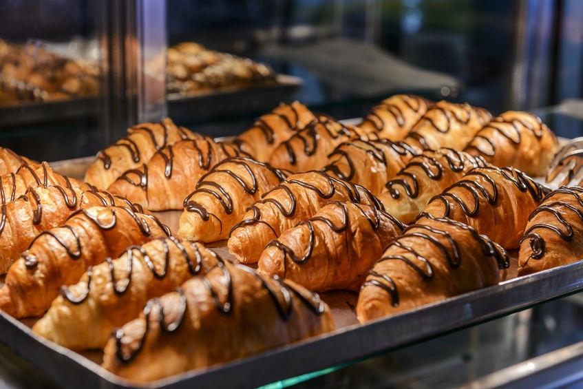 talianské raňajky, croissanty