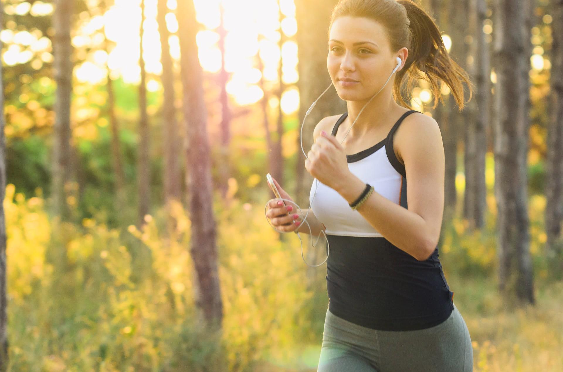 Jogging v lese
