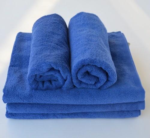 Modrá osuška Horeca textil - Wellness Magazín