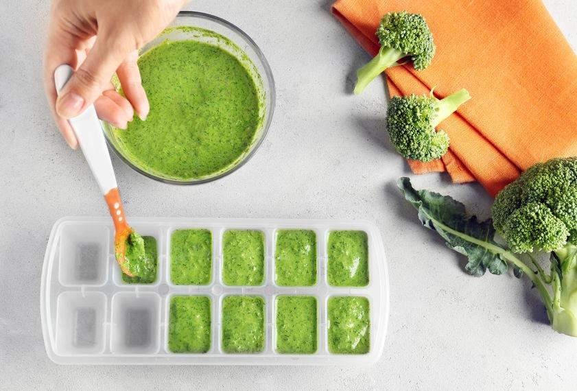 Brokolicová detská výživa v myske do mrazničky