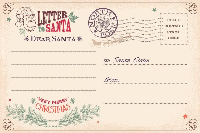 Vianočná pohľadnica pre ježiška