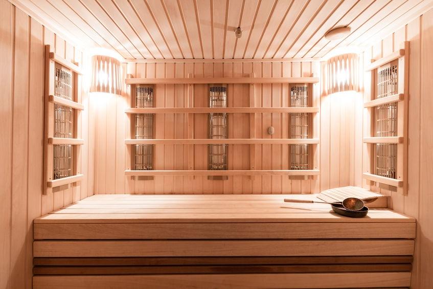 Interiér infračervenej sauny