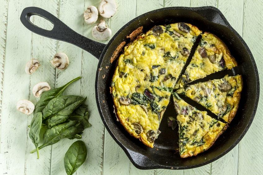 Vajíčka so špenátom a hubami - Wellness Magazín