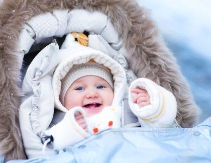 Prechádzka v zime s bábätkom