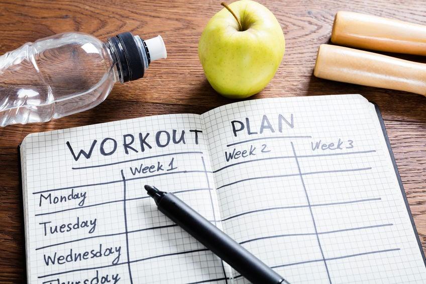 Workout Plan v zošite