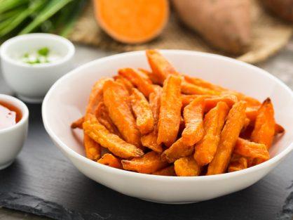 Batátové zemiaky zdrave hranolky