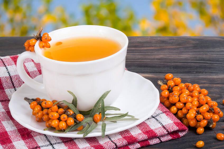 rakytník čaj