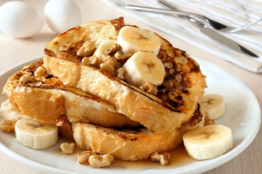 francúzsky toast s banánmi