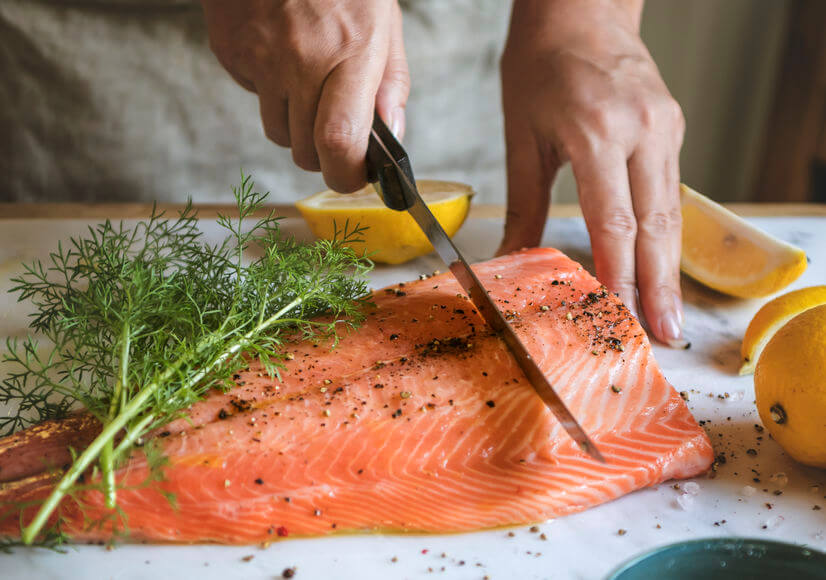 Príprava lososa.