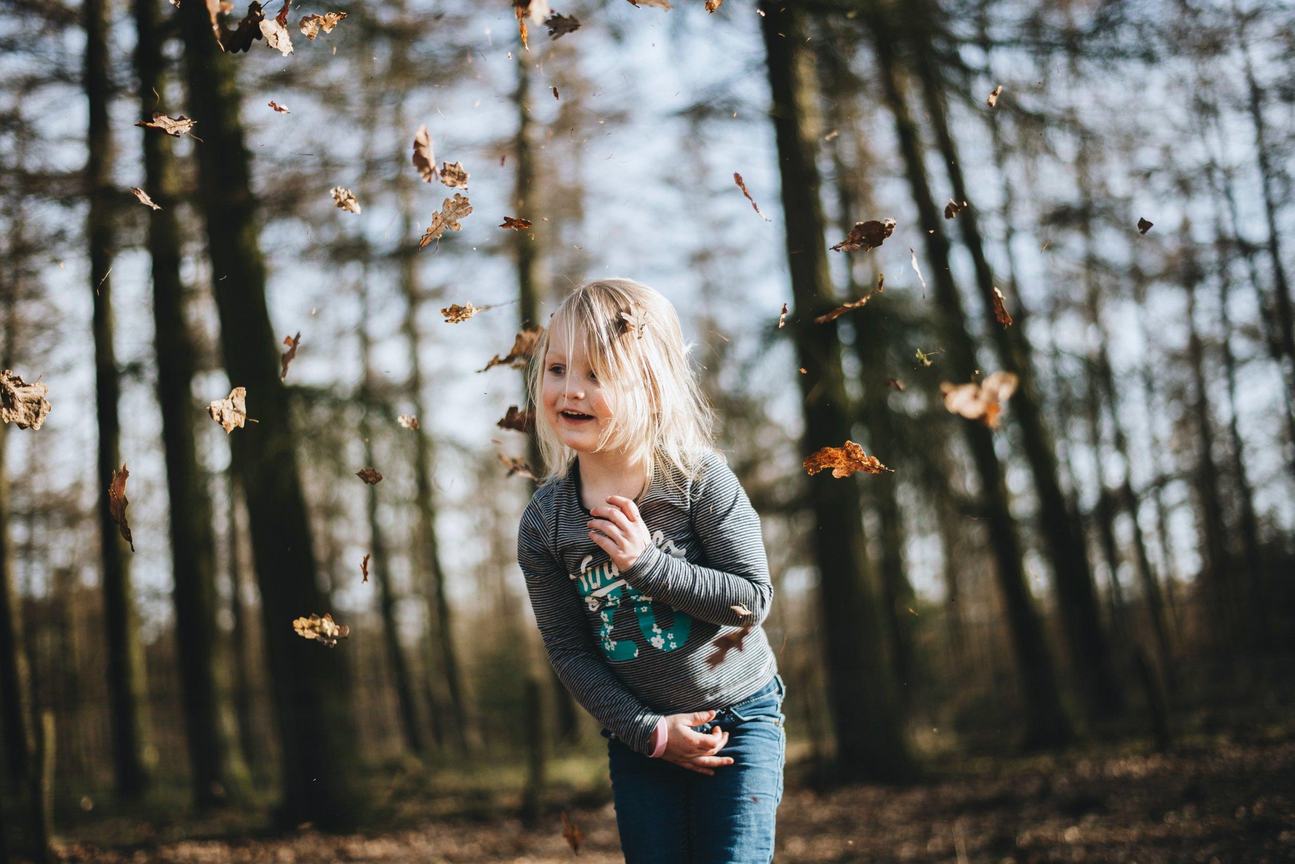 Dieťa na jeseň