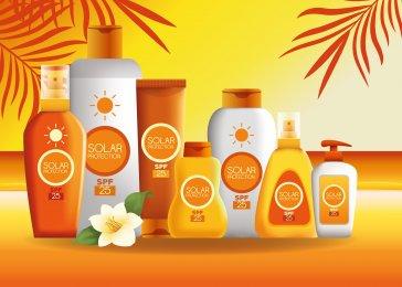 Slnečná kozmetika - produkty na slnko s vysokým stupňom ochrany SPF 50.