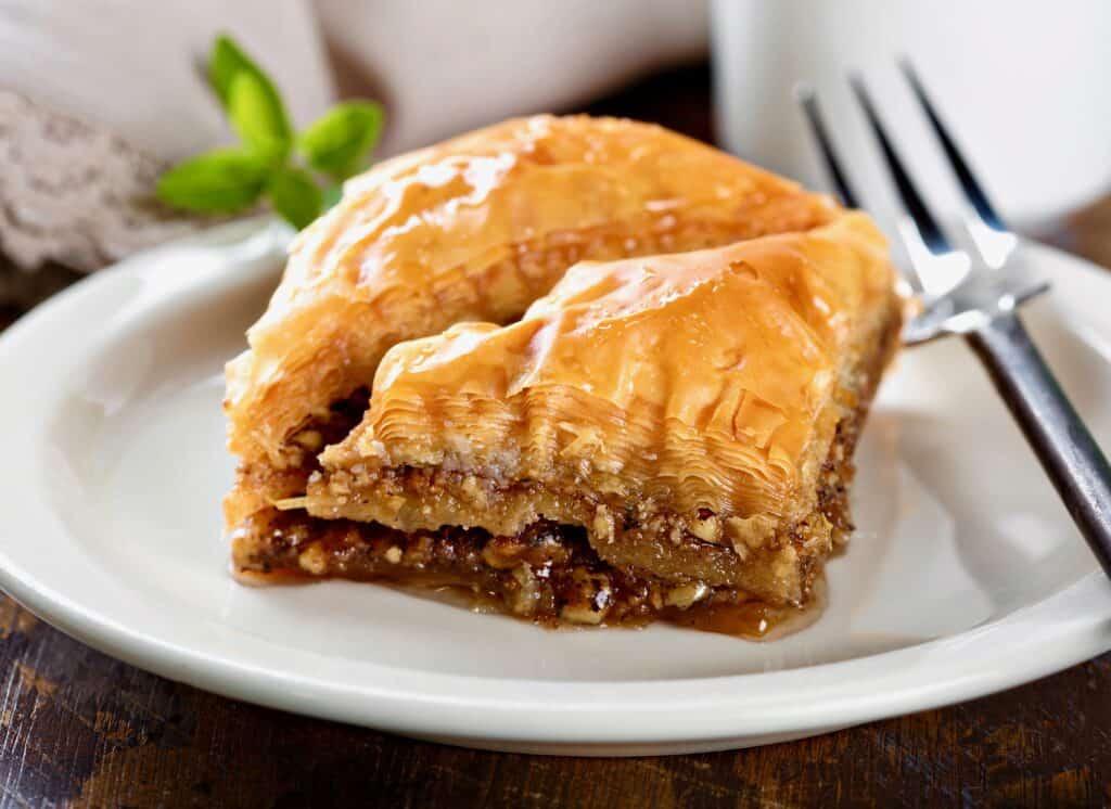 Grécka kuchyňa - tradičný grécky recept na jedlo Baklava.
