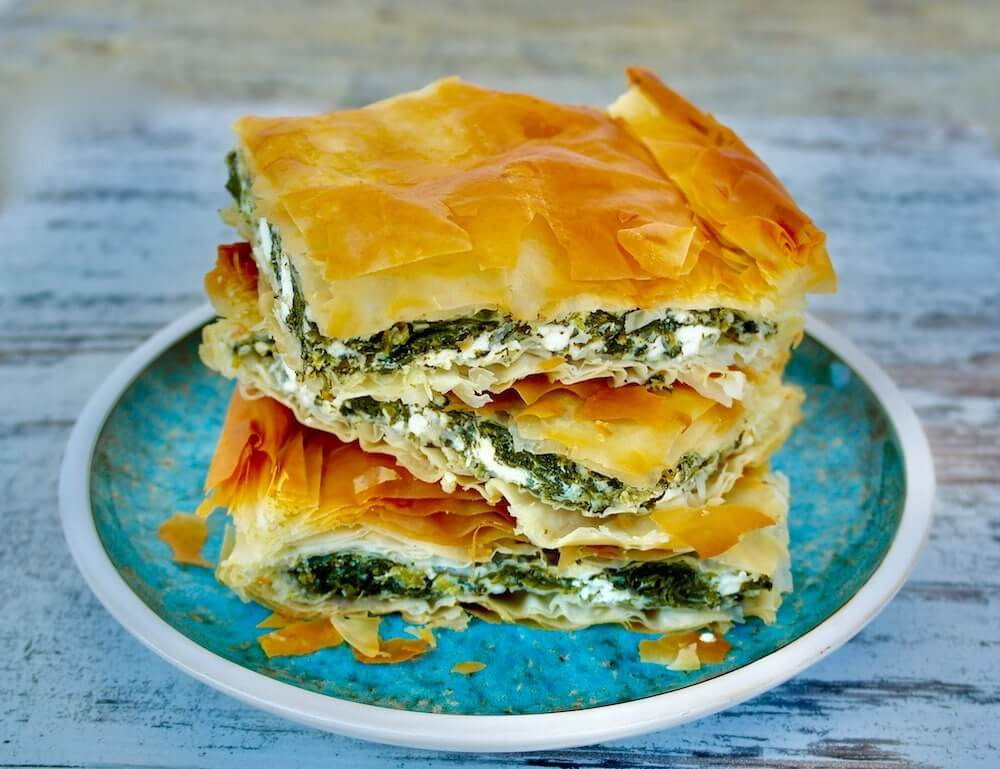 Grécka kuchyňa - recept na špenátový koláč Spinakopita -